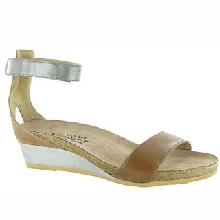 Pixie Sandal in Maple/Silver Leather