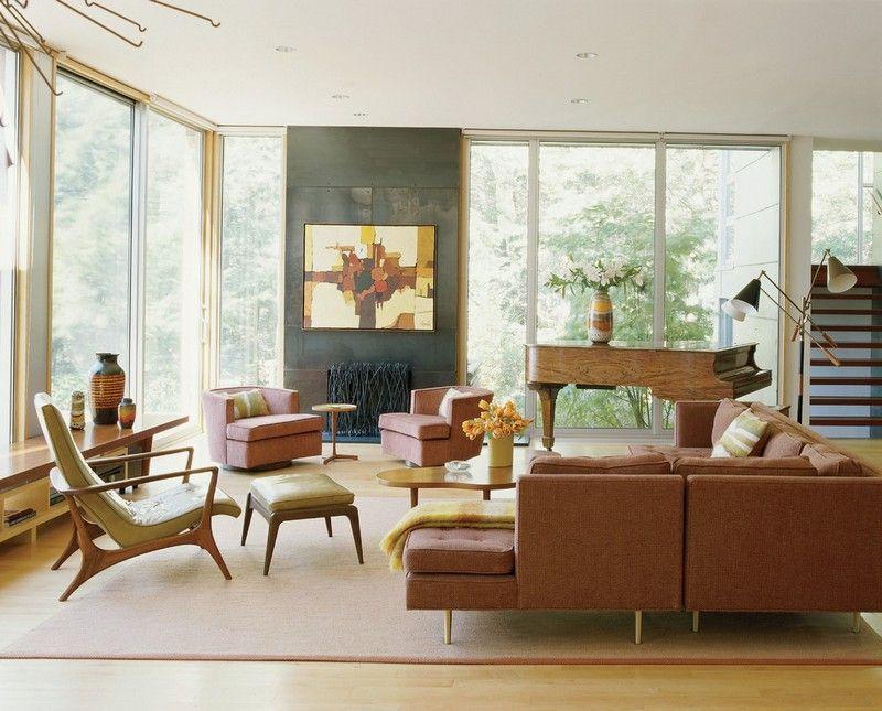 Wohnzimmer im Retro Stil einrichten - Idee | Ideen rund ums Haus ...