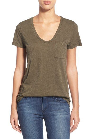470c8236 Caslon® Relaxed Slub Knit U-Neck Tee (Regular & Petite) available at  #Nordstrom
