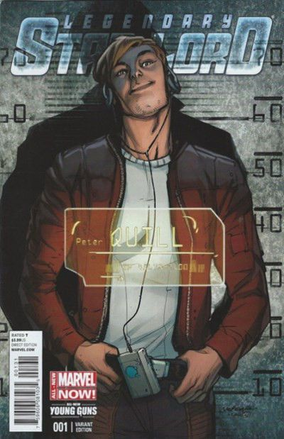 NEW MARVEL COMICS LEGENDARY STAR LORD #1 YOUNG GUNS VARIANT