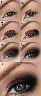 Makeup für braune Augen Schritt für Schritt