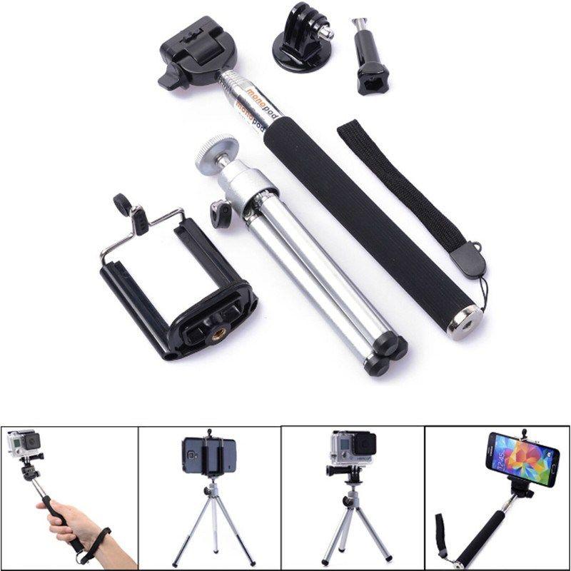 Barato Trípode Para Xiaomi Yi 4 K Go Pro Holder Celular Tripe Monopod Para Gopro Hero 6 5 4 Sjcam Eken H9 Cámara De Acción Accesorios