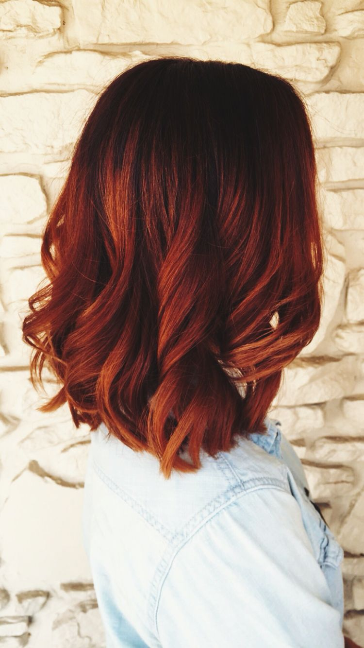 Red with dark roots unique hair color pinterest dark roots