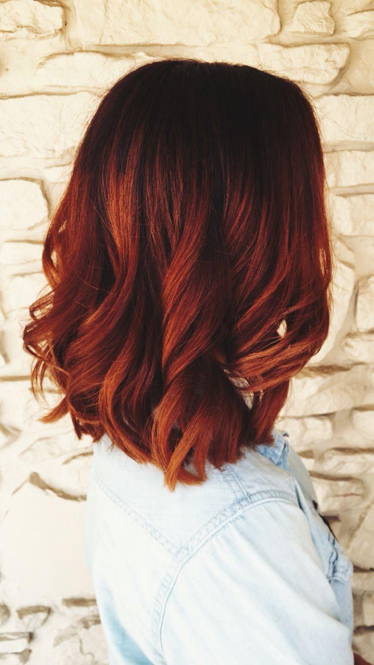 Red with dark roots hair pinterest dark roots dark and hair