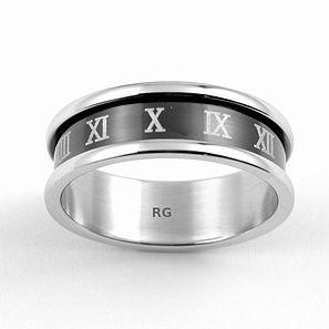 Unisex prsten Silvego z chirurgické oceli R6477-H velikost 55