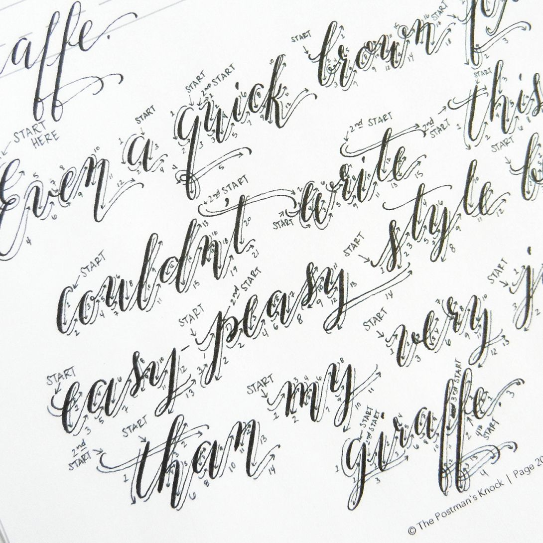 Printable Calligraphy Worksheet Set - Kaitlin Style | Learn