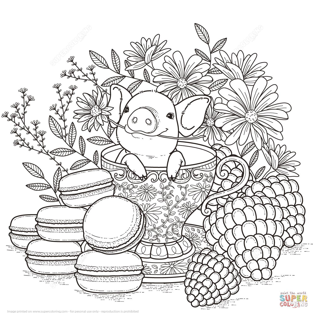 Adorable Little Pig Coloring Page Png 1300 1300 Coloracao Adulta Imagens Para Colorir Desenhos Para Colorir Adultos