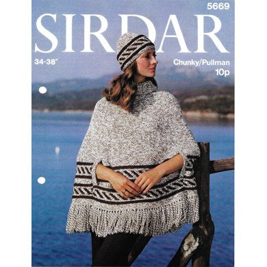Fashion Fun Poncho and Hat in Sirdar Pullman Wool - 5669. Discover more Patterns by Sirdar at LoveKnitting. We stock patterns, yarn, needles and books from all of your favorite brands.