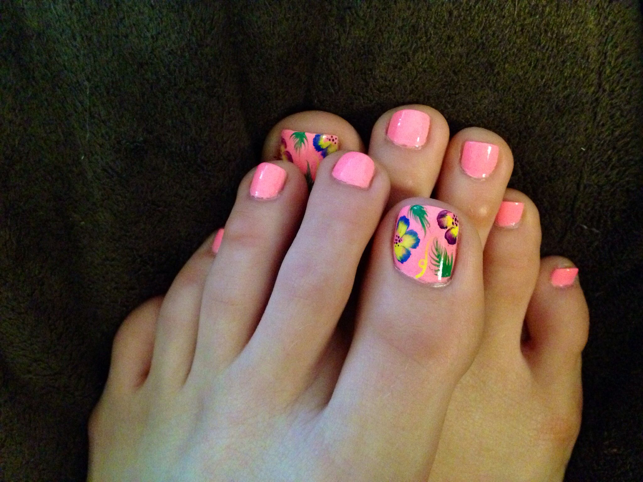 Summer inspired nail art | Nails | Pinterest