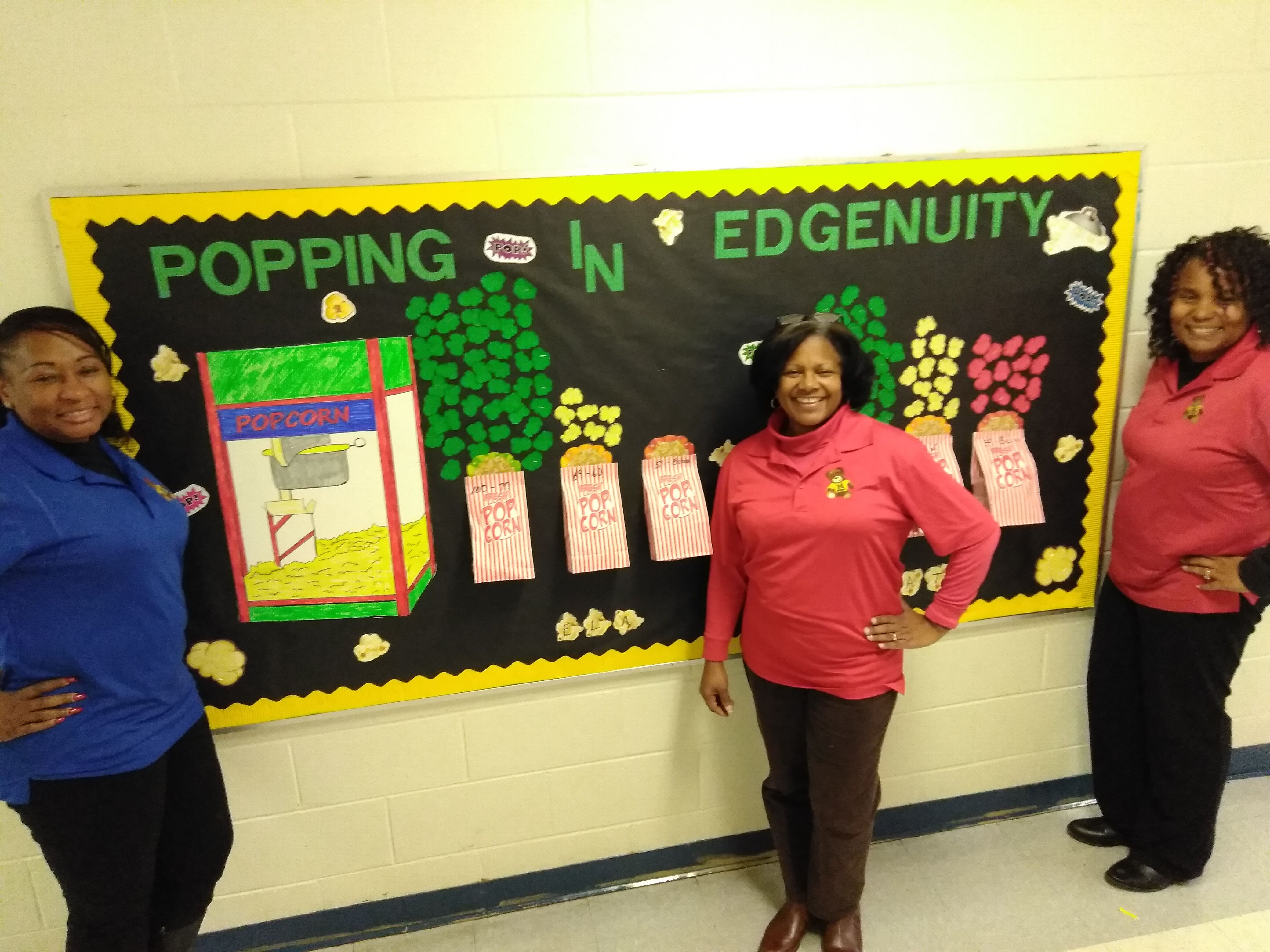 1st Grade Teachers At Moore Elementary Proudly Display