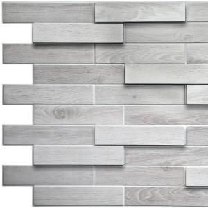 3d Falkirk Retro 10 1000 In X 39 In X 19 In White Grey Faux Oak Steps Pvc Wall Panel Tp10009502 The Home Depot In 2020 Pvc Wall Panels Modern Wall Paneling Vinyl Wall Panels