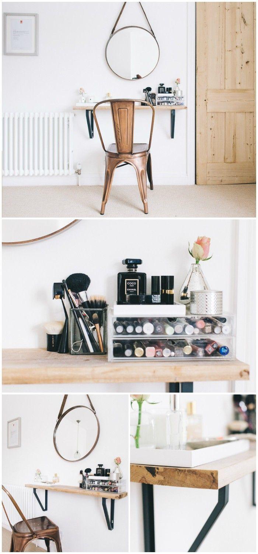 25 DIY Vanity Table Ideas That You Make Easily Diy