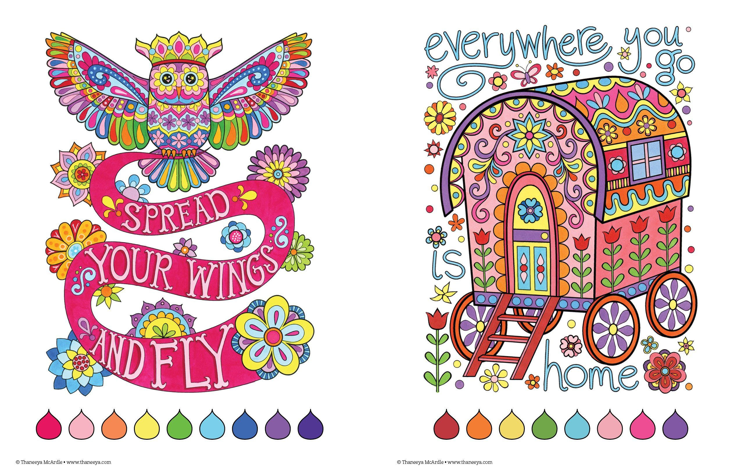 Art from Free Spirit Coloring Book by Thaneeya McArdle
