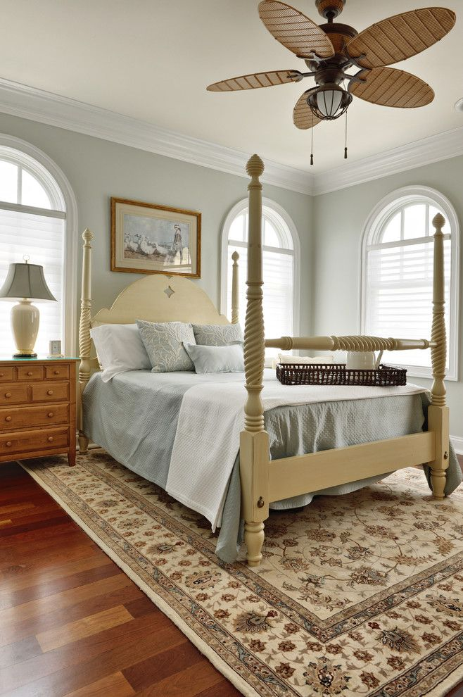 Marvelous nourison in Bedroom Traditional with Carved Poster Bed ...