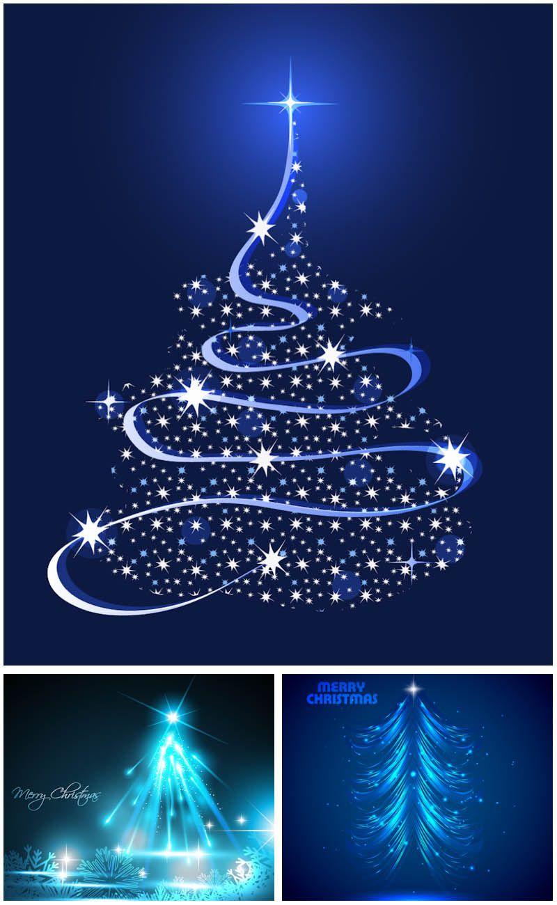 Blue Christmas Tree Illustrations Vector Christmas Tree Clipart Blue Christmas Tree Christmas Tree Art