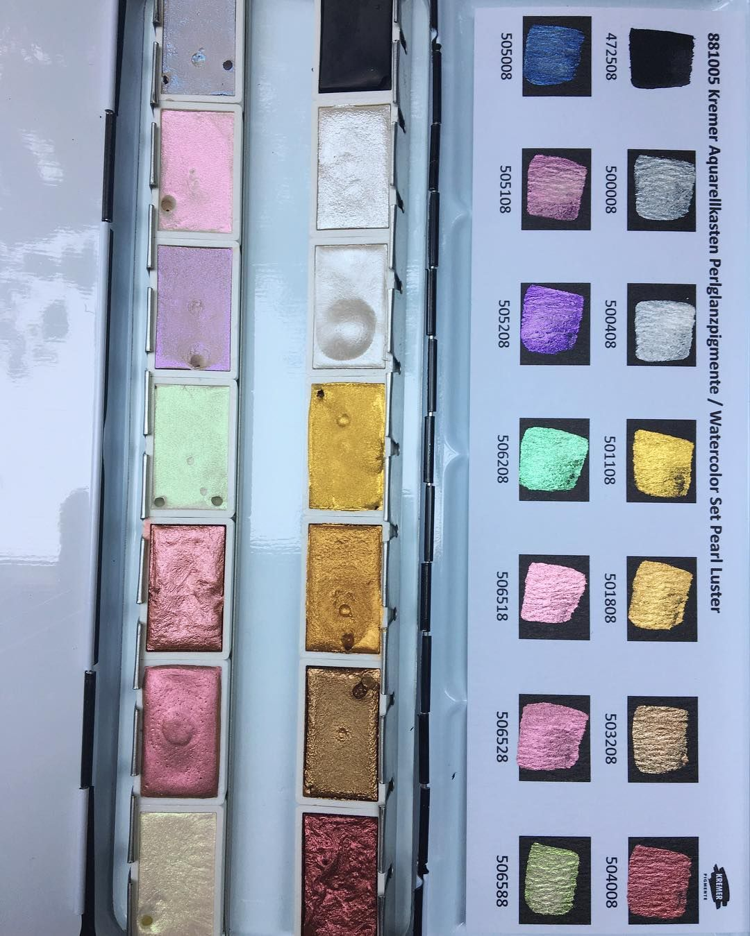 Kremer Pigments Pearl Luster Set Mini Paintings Amazing Art