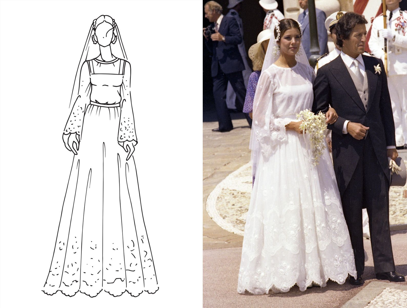 100 years of iconic royal wedding dresses | 100 years of ...