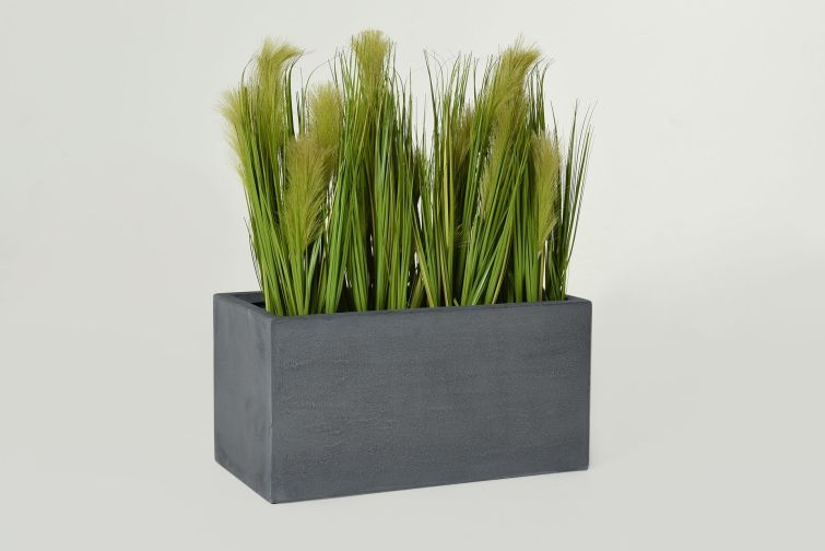 Kunstpflanze Kunstgras Im Pflanztrog Maxi Kunstpflanzen