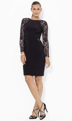 Sequined Jersey Dress - Lauren Short Dresses - RalphLauren.com