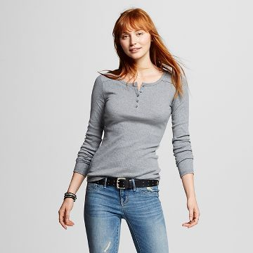 478f8557b9 Women's Henley Tee - Mossimo Supply Co.™ (Juniors') | Personal ...