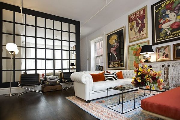 The Beauty Of Decorating With Posters Eclectic Living Room