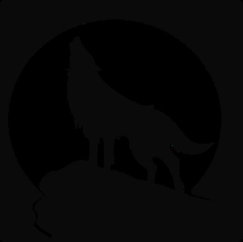Moon 004 Silhouette Art Wolf Silhouette Animal Silhouette