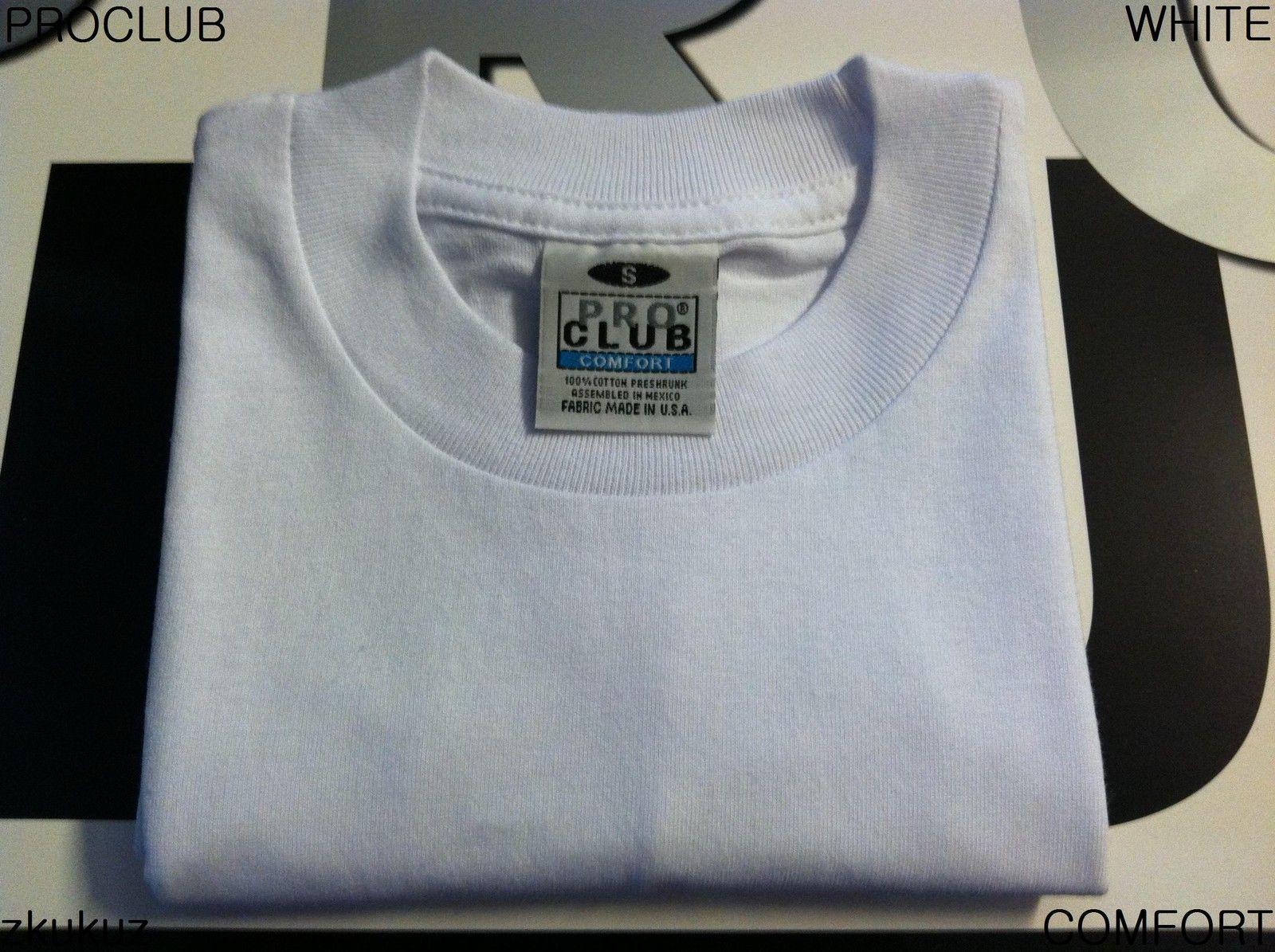 3 NEW PROCLUB HEAVY WEIGHT T-SHIRT WHITE PLAIN PRO CLUB BLANK S-3XLT 3PC