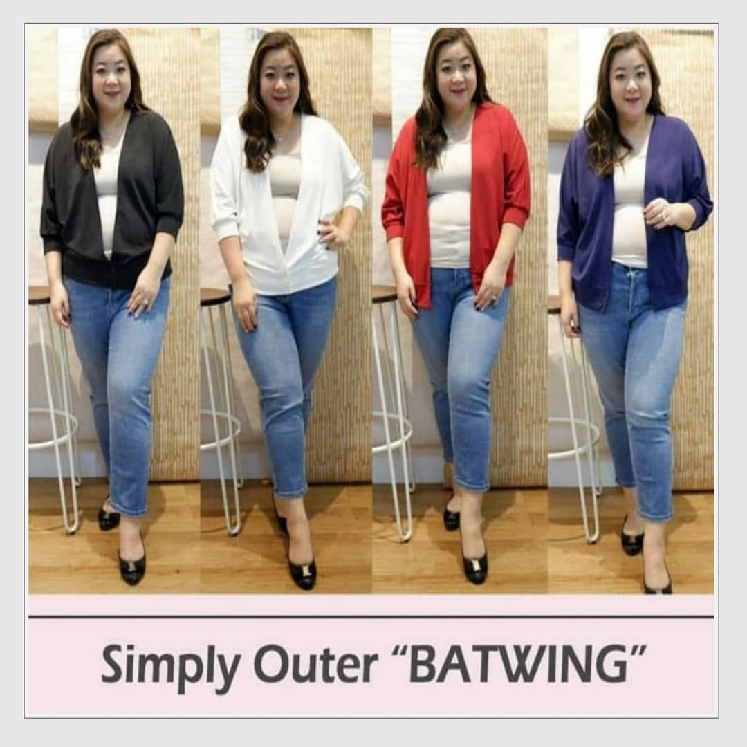 Batwing (Hitam, Putih, Merah, Navy) Allsize fit to XXXL