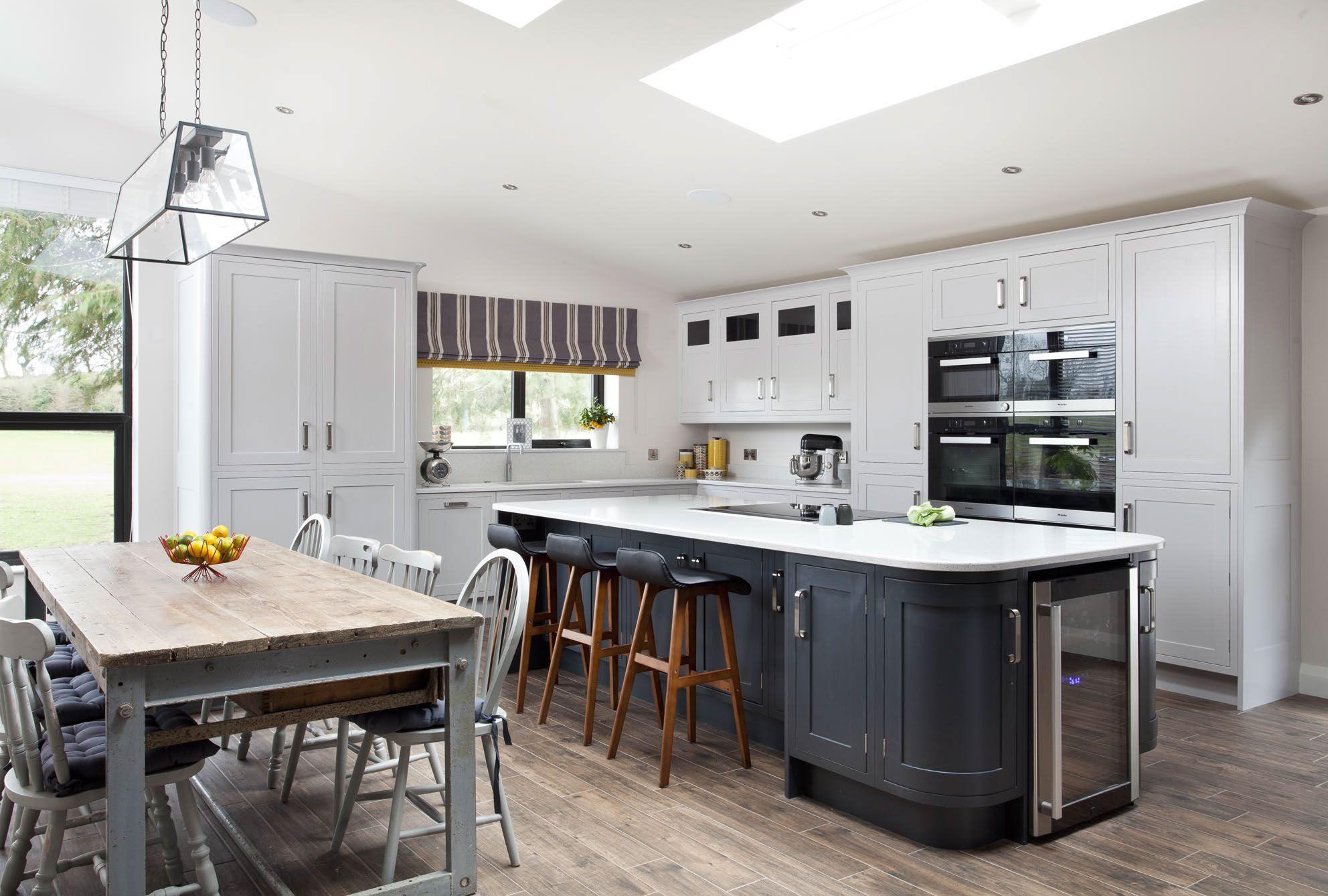 Handpainted Grey Inframe Kitchen Markethill Northern Ireland Elegant Kitchen Design House Design Kitchen Kitchen Design