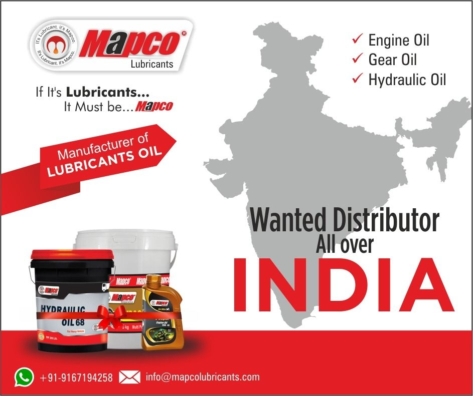 Mapco Lubricants Looking Distributor S For All Over In India