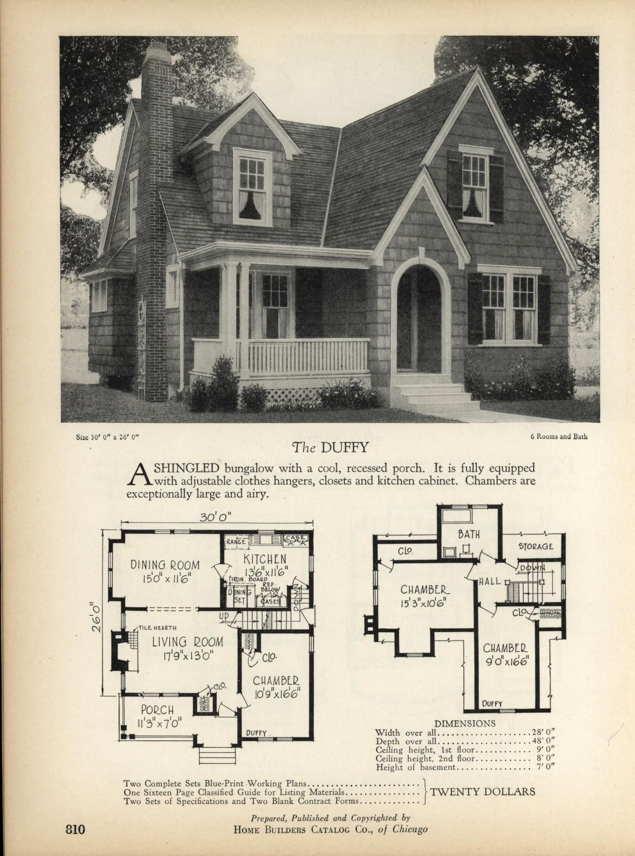 Home Builders Catalog: plans of all types of sm... | 1800's-1940's on 1940's architecture, 1940's art, 1940's interior decorating, 1940's bathrooms, 1940 cape cod house plans, 1940's home decor, 1940's model home, 1940's garage, 1940's furniture, 1900 american foursquare house plans,