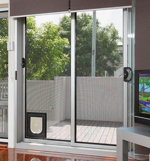 Pozzy Pet Screen Door | Screen Doors | Built-in Pet Door ...