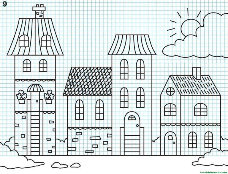 Como Dibujar Ciudades Ii Web Del Maestro Clases De Arte Para Ninos Como Dibujar Dibujos En Cuadricula