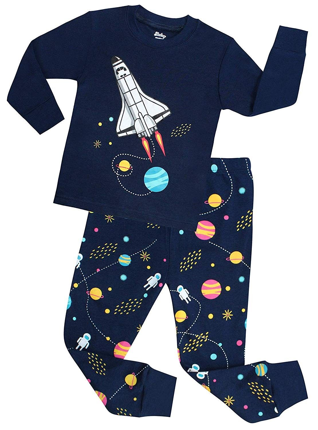 Children Pajamas Boys Pjs Cotton Toddler Kids Sleepwear Set 100/% Cotton