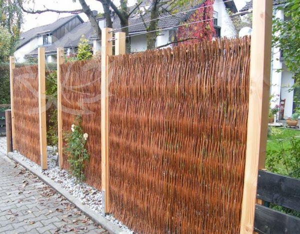 Sichtschutz Aus Weide Beispiel | Garten | Pinterest | Garten Garten Sichtschutz Holz Bambus