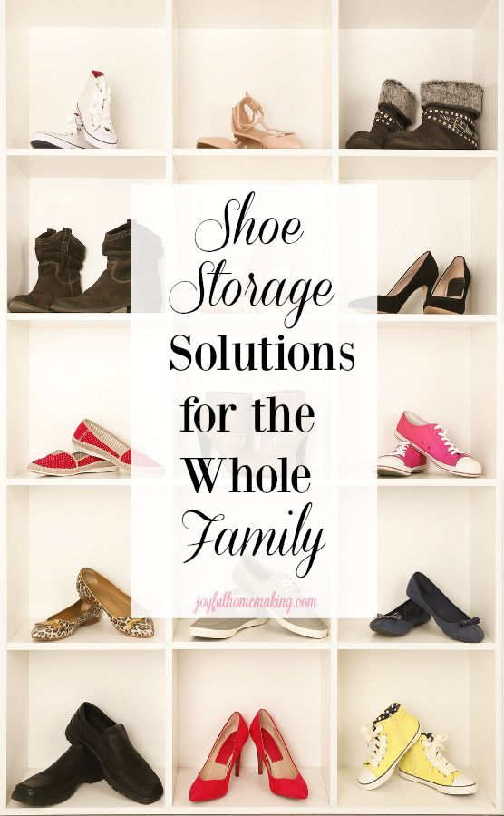 323e3ce909c3 Shoe storage and organization ideas for the whole family.