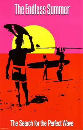 "THE ENDLESS SUMMER MOVIE POSTER PRINT THE SEARCH FOR THE PERFECT WAVE 24/""x36/"""