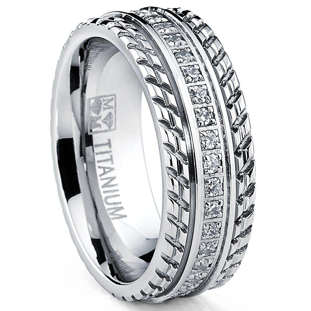 Men's Titanium Wedding Band, Engagement Eternity ring