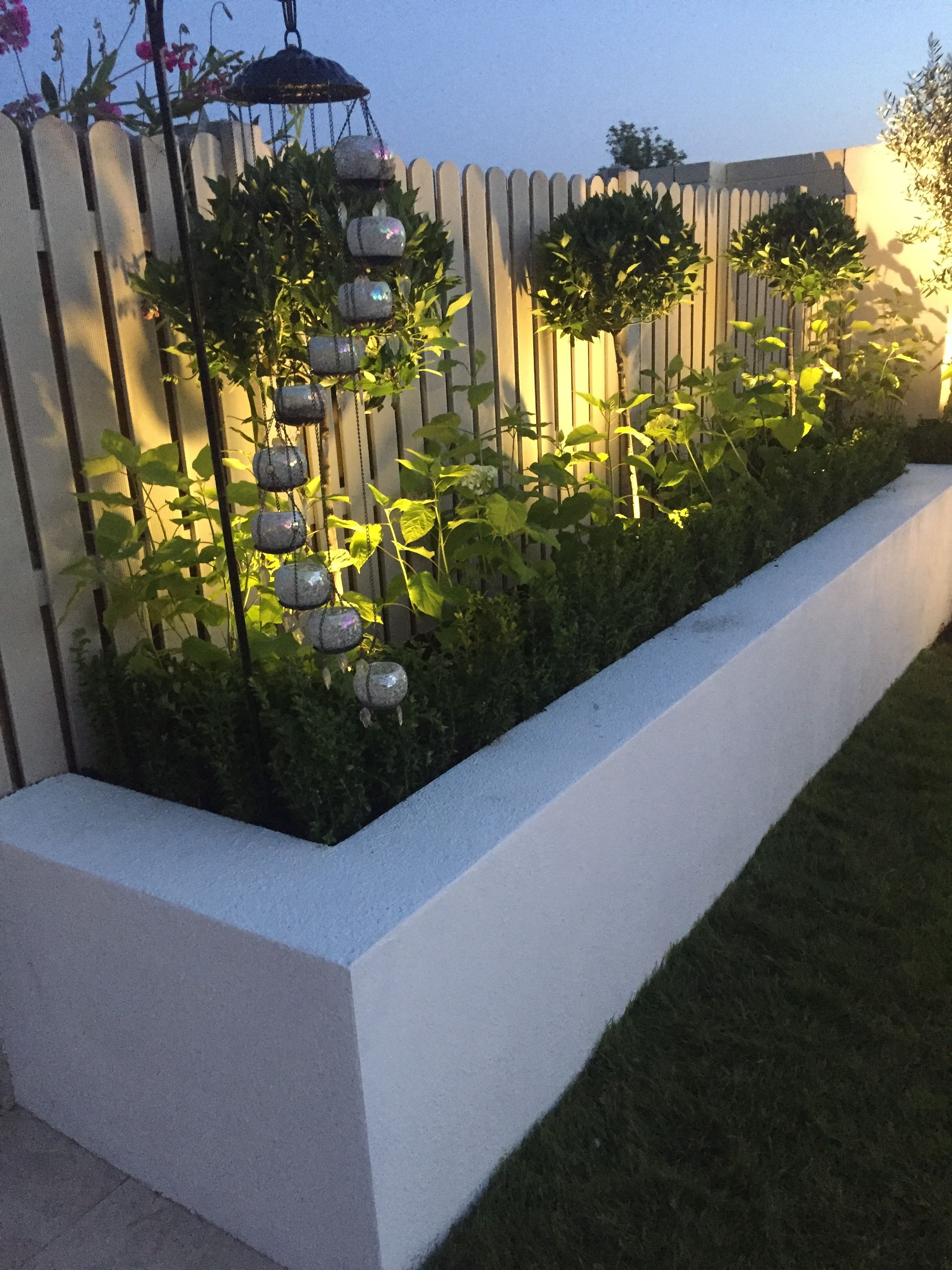 Love The Trees And Lighting In The Raised Beds Backyard Landscaping Designs Garden Architecture Back Garden Design Backyard landscaping ideas with raised beds