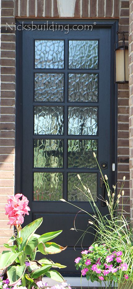 Www Nicksbuilding Mahogany Exterior Doors 8ft Single 80 10 Lite Door In With Black Stain Finish Jpg