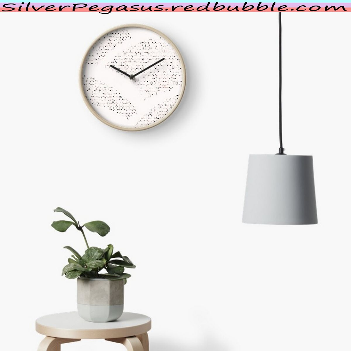 SilverPegasus.redbubble.com , Sparkling Hills - Warm White Wall Clock by SilverPegasus