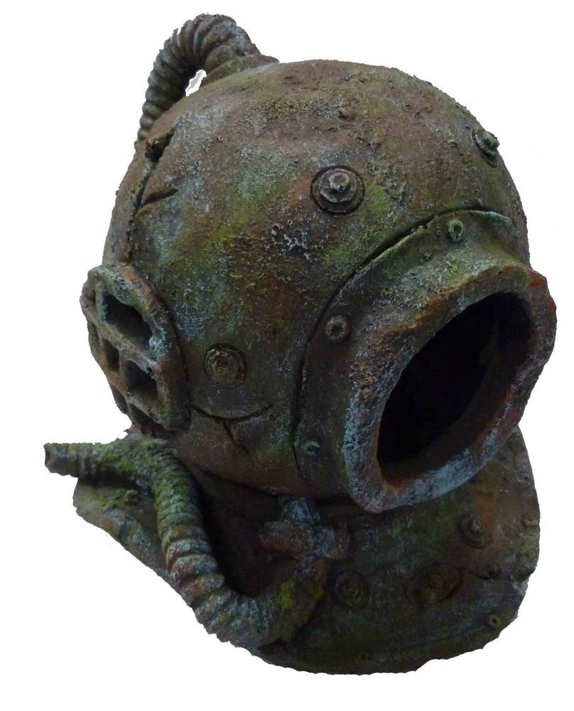 Fish tank decorations zombie - Large Divers Helmet Aquarium Fish Cave Ornament Fish Tank Decoration 11 99approximate Size Length