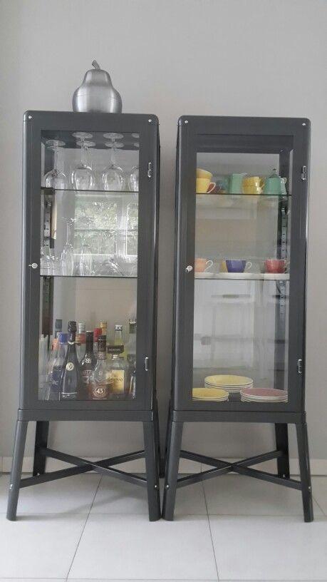 Gin cabinet. Ikea Fabrikor cabinet in