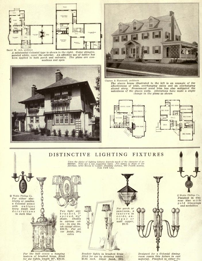Colonial Revival Lighting From 1914 1800 S 1940 S House