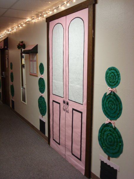 Shop Door Door Decorations College Hall Decor Spring Door Decoration