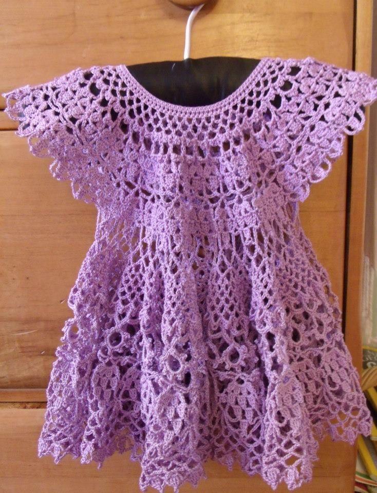 crochet baby dress https://www.facebook.com/SandRidgeNeedleworks ...