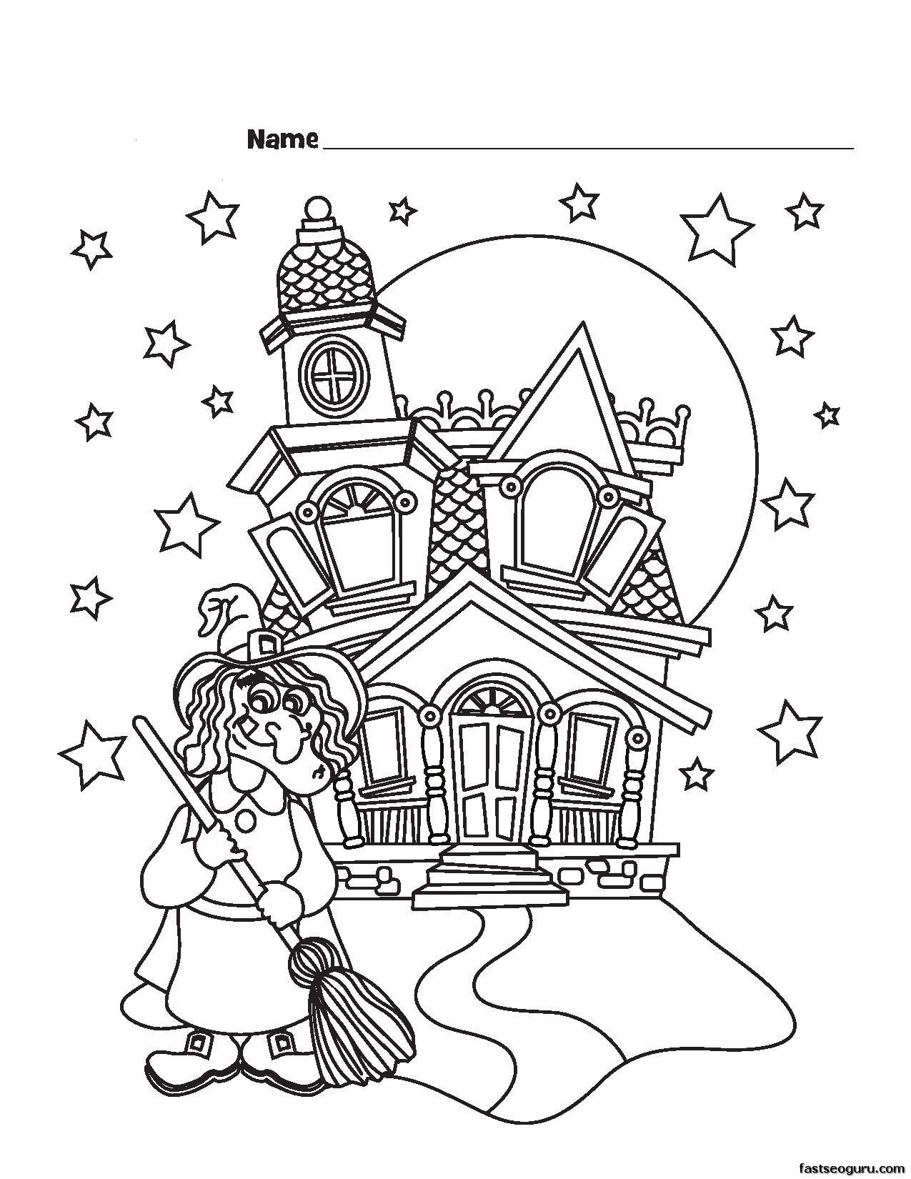 Castle Printable Coloring Pages Printable Coloring Pages