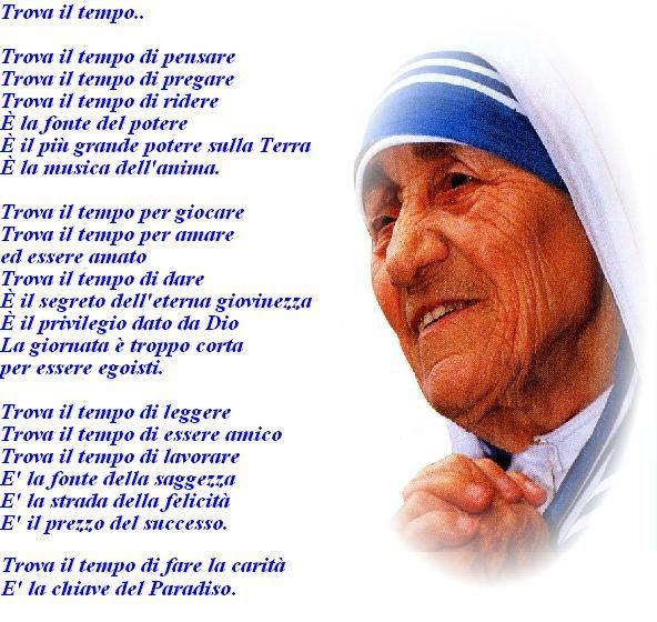 Trova Il Tempo Madre Teresa Citazioni Religiose Citazioni
