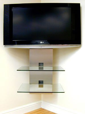 Like The Shelf But Straight For On The Wall Under The Tv In Our - Corner floating wall shelf hidden bracket wall shelving corner wall