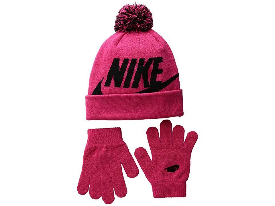 b00bcb30e Nike Kids Swoosh Pom Beanie Gloves Set (Little Kids/Big Kids) (Rush ...
